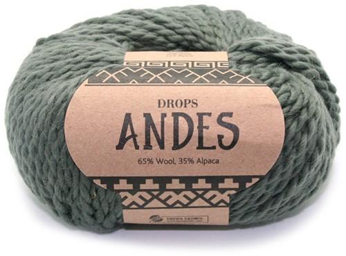 Drops Andes Uni Colour 7810 Moss Green