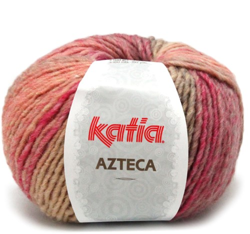Katia Azteca 852 Pale Red/Beige/Orange