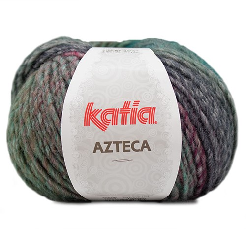 Katia Azteca 868 Blue/Green/Wine Red