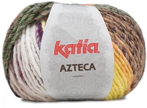 Katia Azteca 869 Black/Pale Red/Green/Yellow