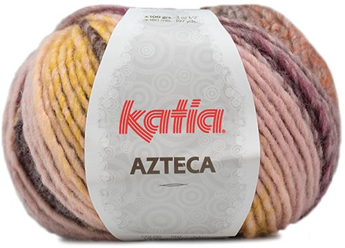 Katia Azteca 870 Brown/Raspberry/Light Pink/Yellow