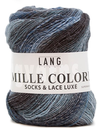 Lang Yarns Mille Colori Socks & Lace Luxe 78 Turquoise/Petrol/Silver
