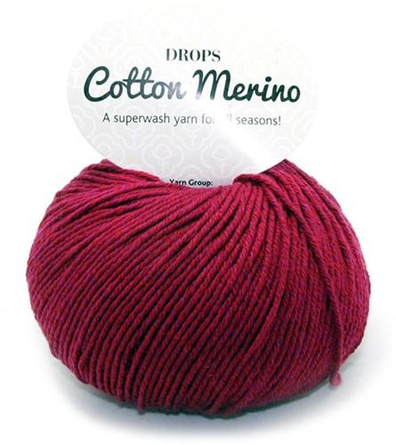 Drops Cotton Merino Uni Colour 7 Burgunder