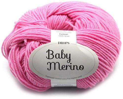 Drops Baby Merino Uni Colour 07 Pink