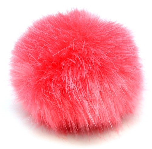 Rico Fake Fur Pompon Medium 8 Coral