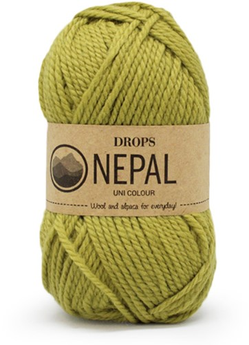 Drops Nepal Uni Colour 8038 Light Olive