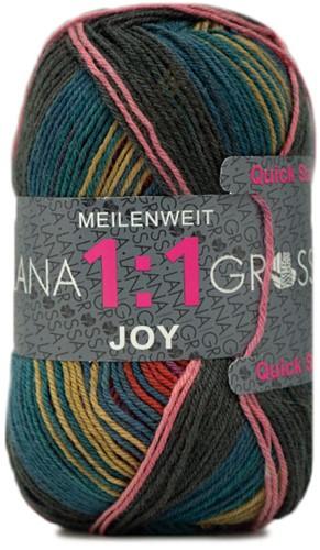 Lana Grossa Meilenweit 100 1:1 Joy 803 Dark Red/Blue