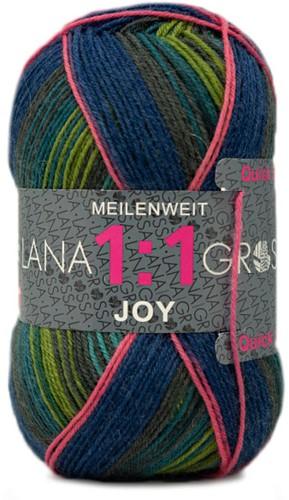 Lana Grossa Meilenweit 100 1:1 Joy 804 Dark Green/Blue
