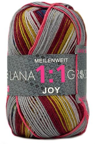 Lana Grossa Meilenweit 100 1:1 Joy 805 Dark Red/Apple Green/Lilac