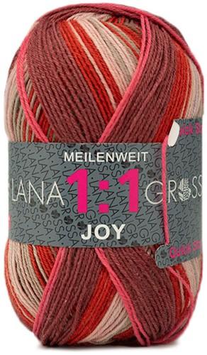 Lana Grossa Meilenweit 100 1:1 Joy 807 Brown/Dark Red/ Pastel Pink
