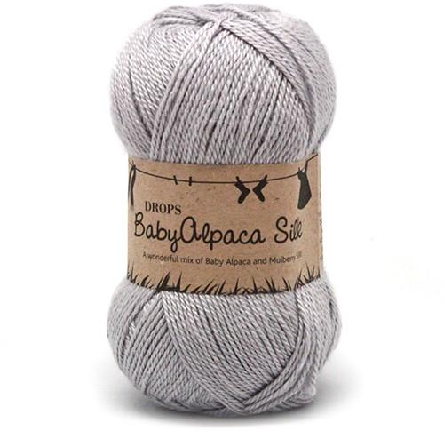 Drops BabyAlpaca Silk Uni Colour 8108 Light-grey