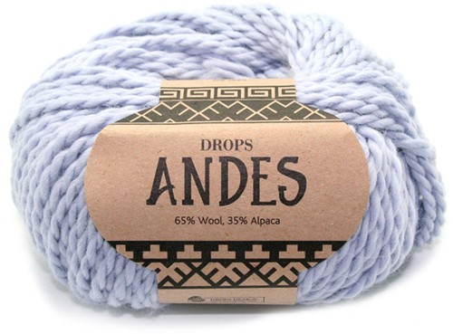 Drops Andes Uni Colour 8112 Ice Blue
