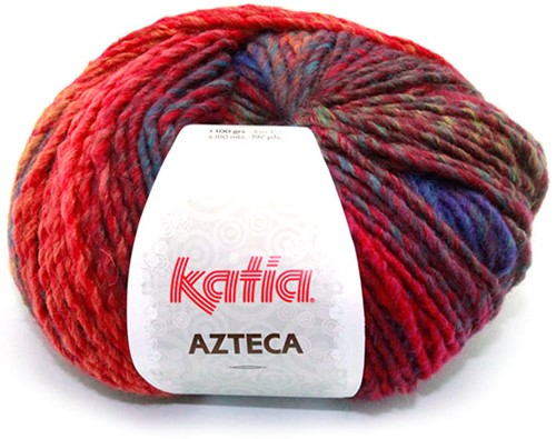 Katia Azteca 847 Wine Red/Dark Fuchsia/Blue
