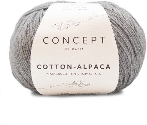 Katia Cotton Alpaca 84 Medium grey