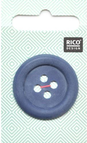 Rico Button Matt Navy 34mm