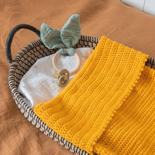 Yarn and Colors Oh Baby! Crochet Blanket Crochet Kit 015 Mustard