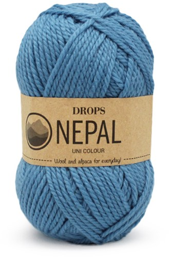 Drops Nepal Uni Colour 8783 Forget-me-not