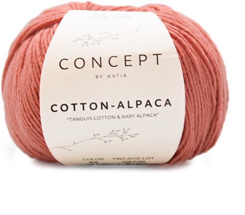 Katia Cotton Alpaca 88 Coral