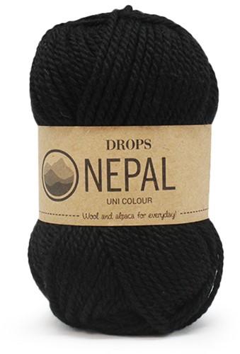 Drops Nepal Uni Colour 8903 Black