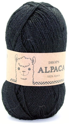 Drops Alpaca Uni Colour 8903 Black