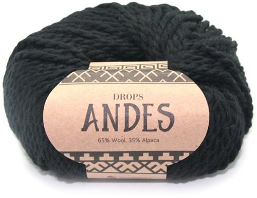 Drops Andes Uni Colour 8903 Black