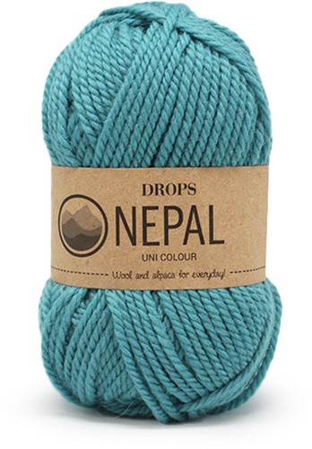 Drops Nepal Uni Colour 8911 Sea-blue
