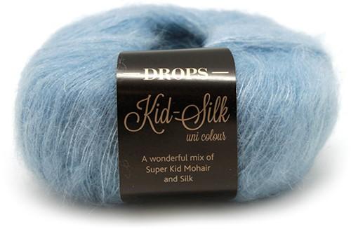 Drops Kid-Silk Uni Colour 08 Grey-blue