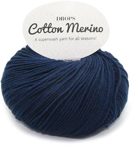 Drops Cotton Merino Uni Colour 8 Navy