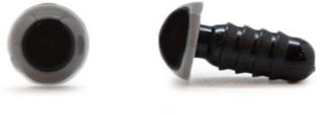 Safety Eyes Grey 8mm per pair