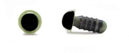 Safety Eyes Olive Green 8mm per pair