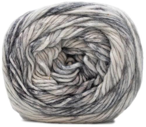 Lana Grossa Gomitolo Duo 250 901 Raw White/Light Gray/Medium Gray/Dark Gray