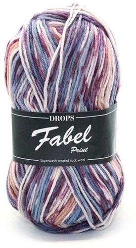 Drops Fabel Print 904 Lavender