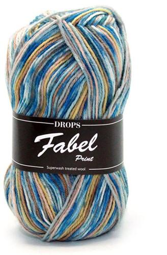 Drops Fabel Print 910 Sea Mist