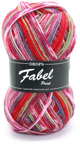 Drops Fabel Print 911 Fun Lilac