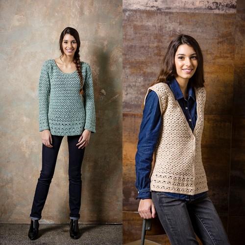 Crochet Pattern Stylecraft Batik DK No. 9294 Sweater and Waistcoat