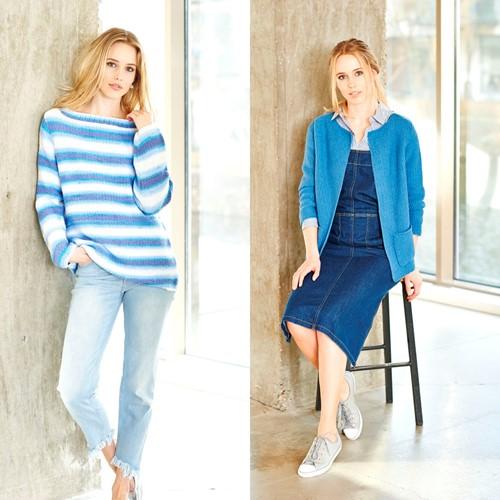 Knitting Pattern Stylecraft Wondersoft Merry Go Round DK No. 9394 Jacket and sweater