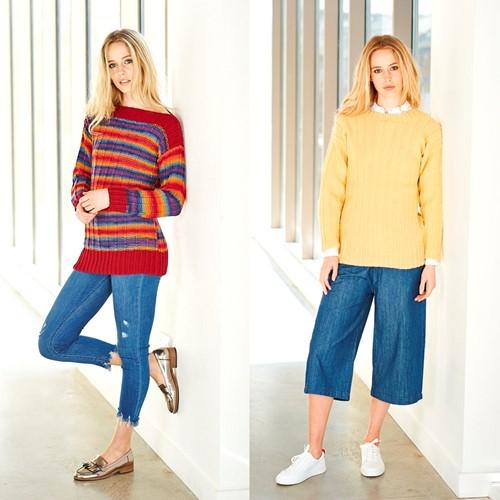 Knitting Pattern Stylecraft Wondersoft Merry Go Round DK No. 9395 Sweaters