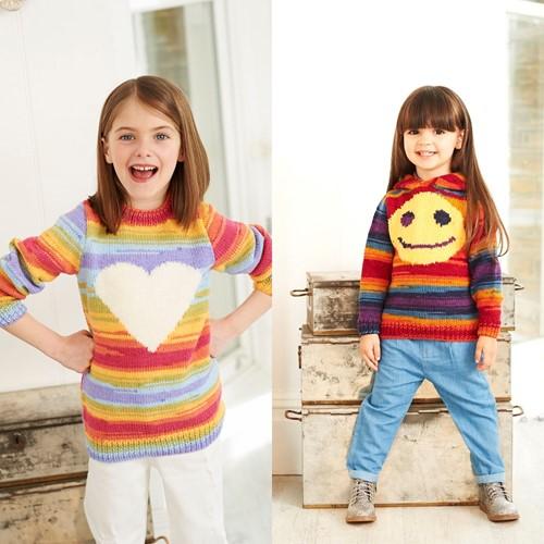 Knitting Pattern Stylecraft Wondersoft Merry Go Round DK No. 9397 Girls sweaters