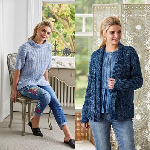 Knitting Pattern Stylecraft Batik DK No. 9420 Jacket and Roll Neck Top