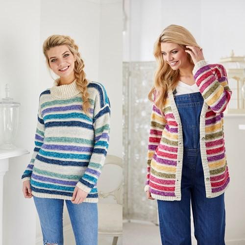 Knitting Pattern Stylecraft Batik DK No. 9422 Sweater and Cardigan