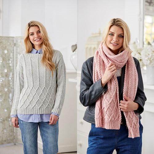Knitting Pattern Stylecraft Batik DK No. 9423 Sweater and Shawl