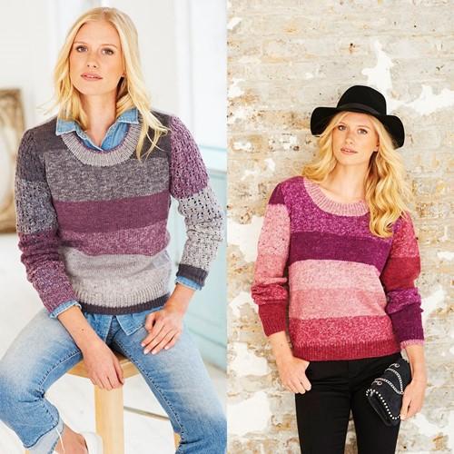 Knitting Pattern Stylecraft Batik Swirl DK No. 9482 Sweaters and Mittens