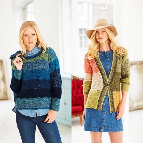 Knitting Pattern Stylecraft Batik Swirl DK No. 9483 Sweater, Cardigan and Cowl