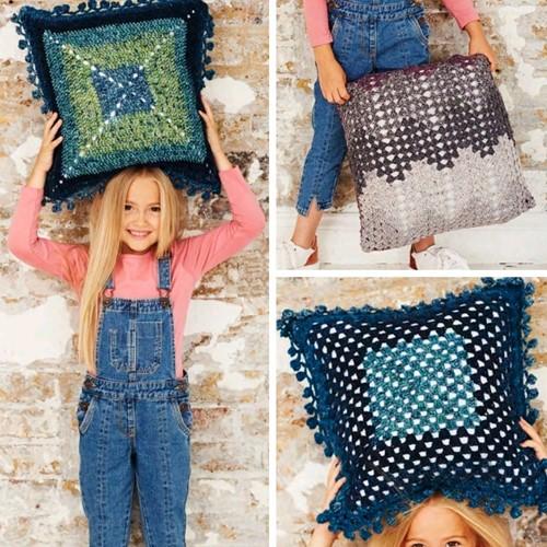 Crochet Pattern Stylecraft Batik Swirl DK No. 9487 Cushions