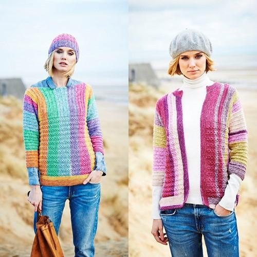 Knitting Pattern Stylecraft Batik Swirl DK No. 9537 Sweater, Cardigan and Hat