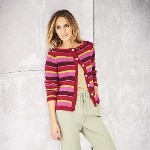 Knitting Pattern Stylecraft Bellissima DK No. 9581 Striped Cardigans