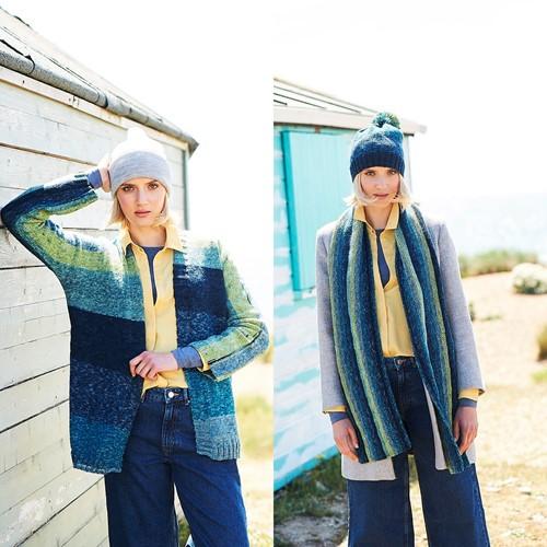 Knitting Pattern Stylecraft Batik Swirl DK No. 9673 Jacket, Scarf and Hat