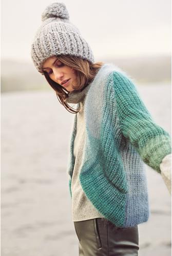 Essentials Super Kid Mohair Loves Silk Colourlove Cardigan Knitting Kit 3 36/42