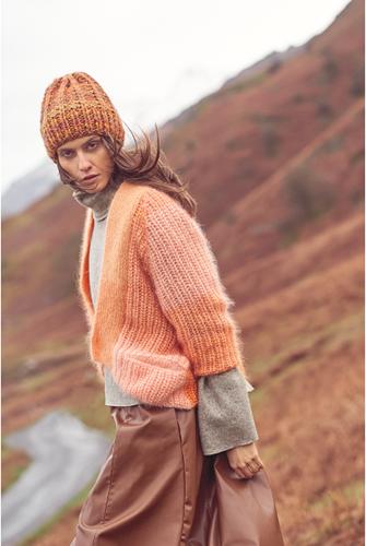 Essentials Super Kid Mohair Loves Silk Colourlove Cardigan Knitting Kit 2 36/42