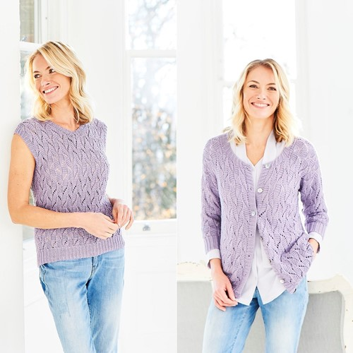 Knitting Pattern Stylecraft Naturals - Bamboo + Cotton DK No. 9752 Cardigan & Top